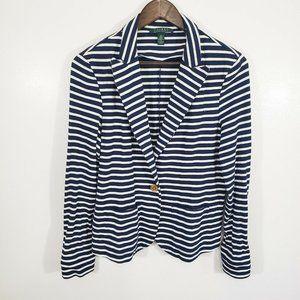Lauren Ralph Lauren Navy Stripe Blazer